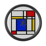 Mondrian-2b Large Wall Clock