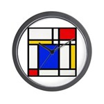 Mondrian-2b Wall Clock