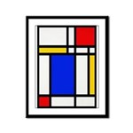 Mondrian-2b Framed Panel Print