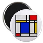 Mondrian-2b Magnet Magnets