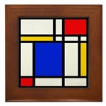 Mondrian-2b Framed Tile