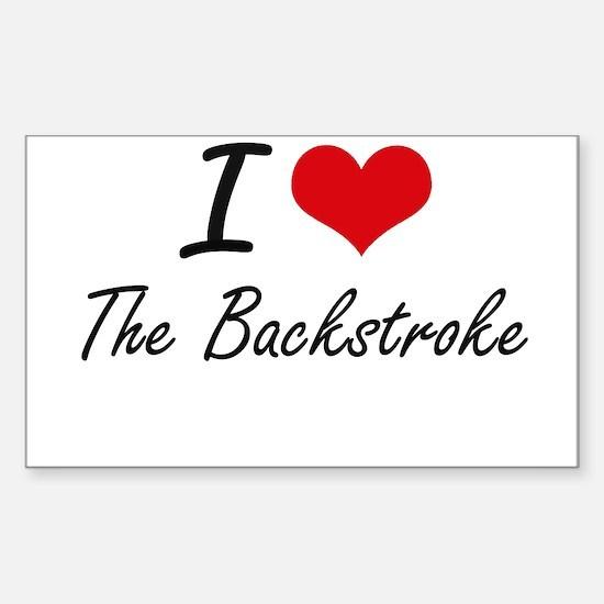 I Love The Backstroke Decal