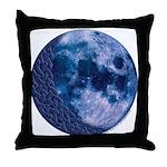 Celtic Knotwork Blue Moon Throw Pillow