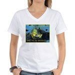 Froggies Have Rights Too Women's V-Neck T-Shirt