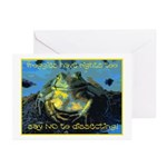 Froggies Have Rights Too Greeting Cards (Pk of 20)