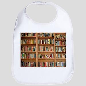 Bookshelf Books Library Bookworm Reading Baby Bib