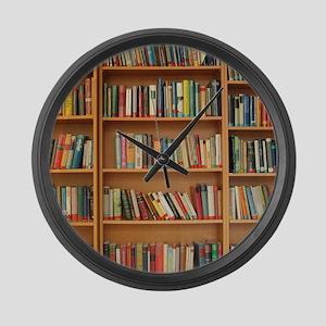 Bookshelf Books Large Wall Clock