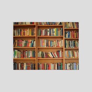 Bookshelf Books 5'x7'Area Rug