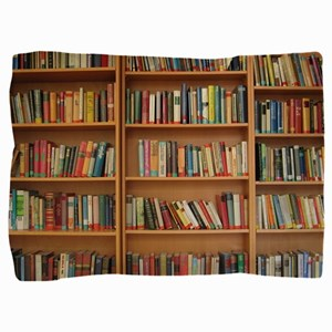 Bookshelf Books Pillow Sham