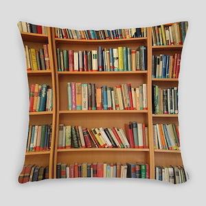 Bookshelf Books Everyday Pillow