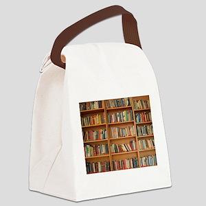 Bookshelf Books Canvas Lunch Bag