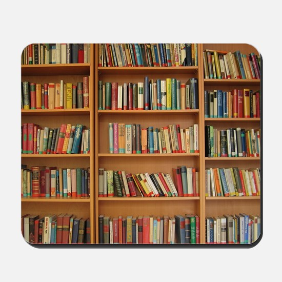 Bookshelf Books Mousepad