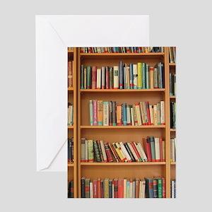 Bookshelf Books Greeting Cards