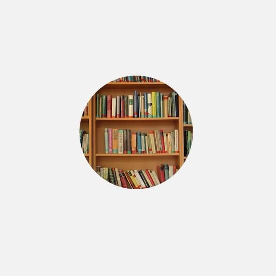 Bookshelf Books Mini Button