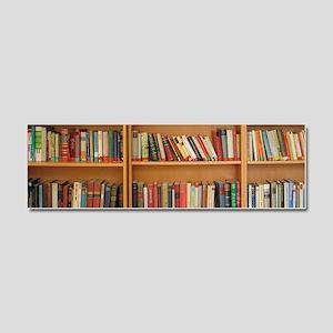 Bookshelf Books Car Magnet 10 x 3