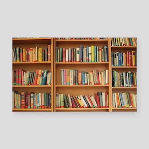 Bookshelf Books Rectangle Car Magnet