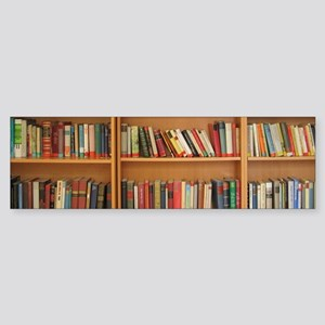 Bookshelf Books Bumper Sticker