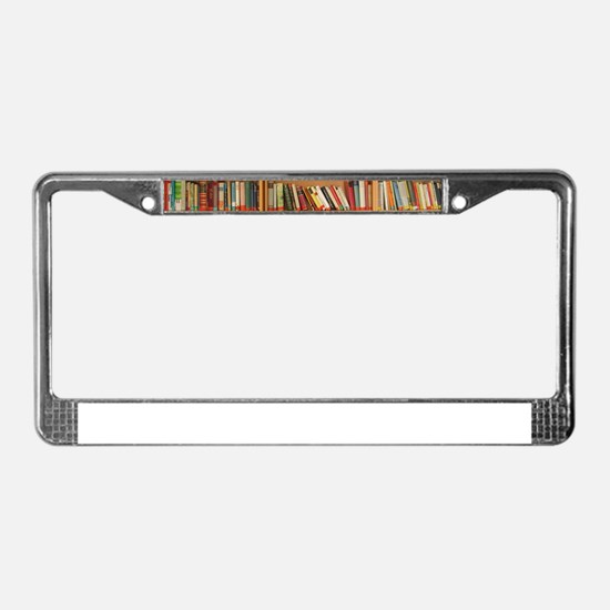 Bookshelf Books License Plate Frame