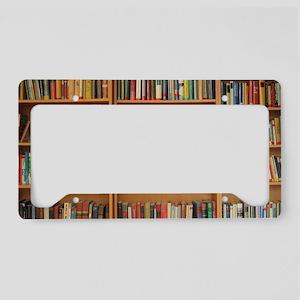 Bookshelf Books License Plate Holder