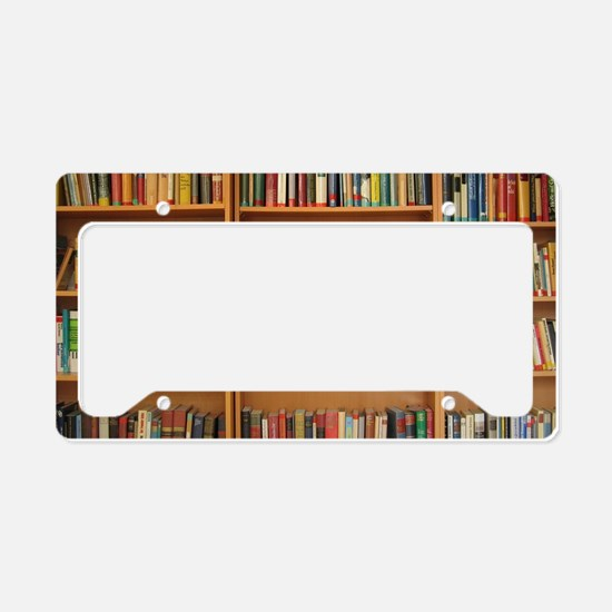 Bookshelf Books License Plate Holder