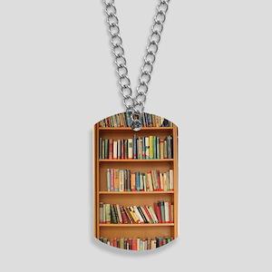 Bookshelf Books Dog Tags