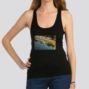 clear water with boats Racerback Tank Top