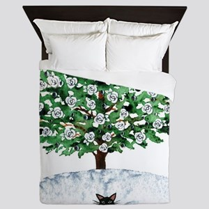 Christmas Tree Stray Cats Queen Duvet