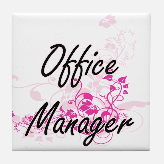 Office Manager Artistic Job Design wi Tile Coaster