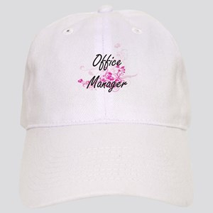 Office Manager Artistic Job Design with Flower Cap