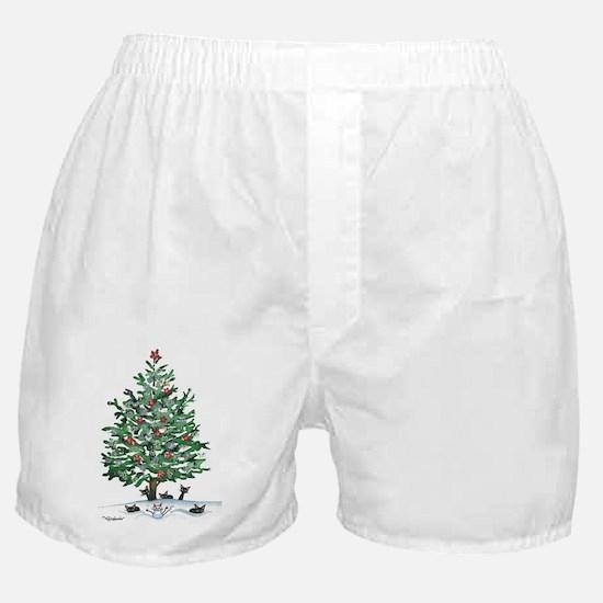 Christmas Tree Strat Cats Boxer Shorts