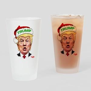 Santa Trump Drinking Glass