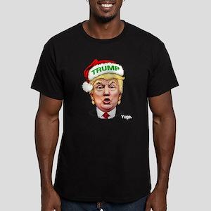 Santa Trump Men's Fitted T-Shirt (dark)