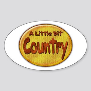 Country Western Oval Sticker