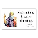 Plato 3 Rectangle Sticker