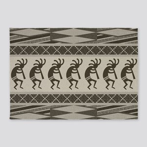Southwest Kokopelli 5'x7'Area Rug