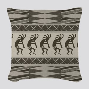 Southwest Kokopelli Woven Throw Pillow