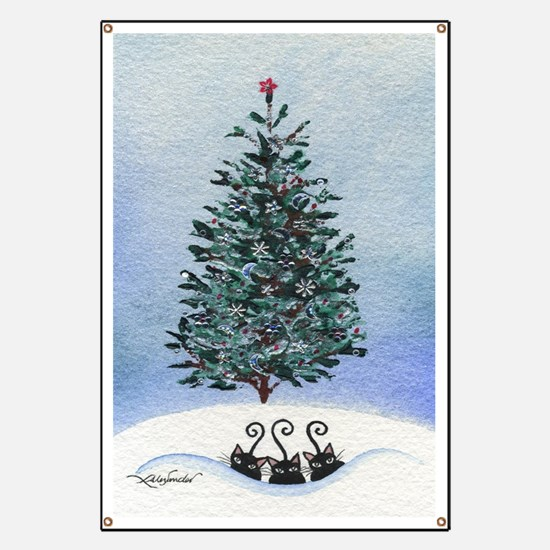 Christmas Tree Stray Cats Banner