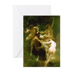 Nymphs and Satyr by Boug Greeting Cards (Pk of 10)