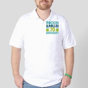 70th Birthday Rock Golf Shirt