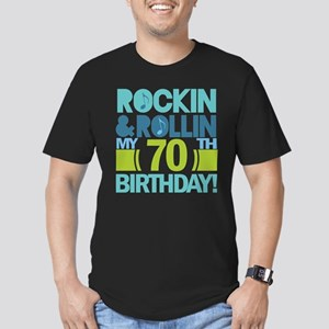 70th Birthday Rock Men's Fitted T-Shirt (dark)