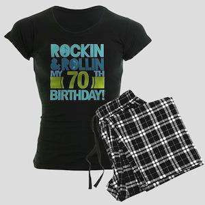 70th Birthday Rock Women's Dark Pajamas