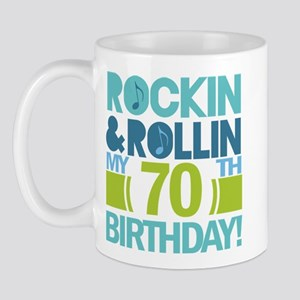 70th Birthday Rock Mug