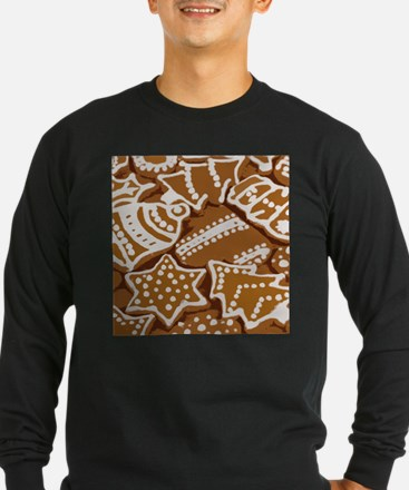 Christmas Gingerbread Long Sleeve T-Shirt