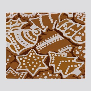 Christmas Gingerbread Throw Blanket