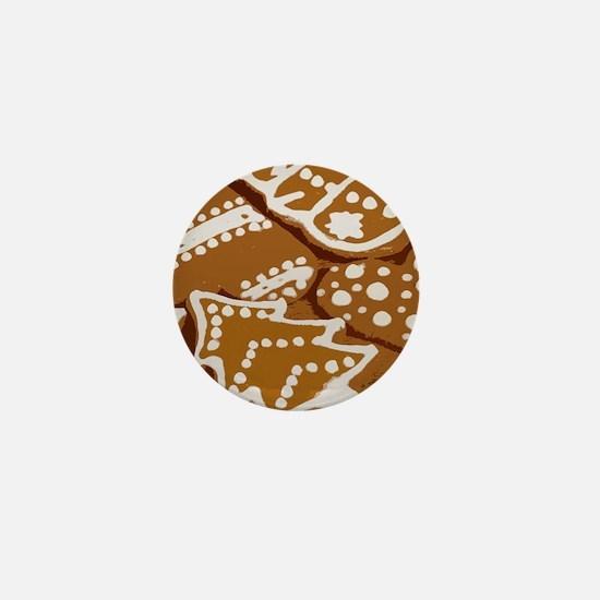 Christmas Gingerbread Mini Button