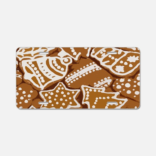 Christmas Gingerbread Aluminum License Plate