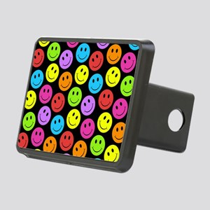 Happy Colorful Smiley Face Rectangular Hitch Cover