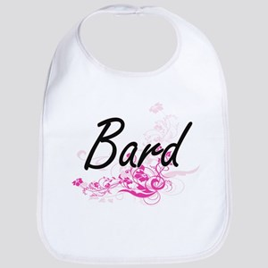 Bard Artistic Job Design with Flowers Bib