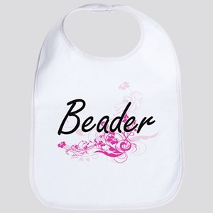 Beader Artistic Job Design with Flowers Bib