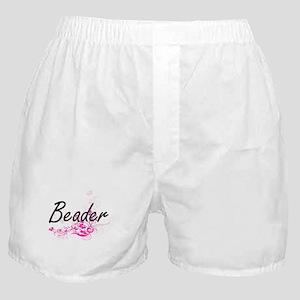 Beader Artistic Job Design with Flowe Boxer Shorts